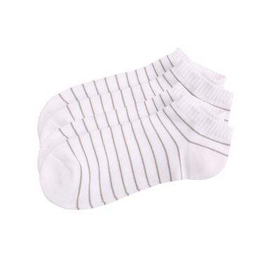 多彩拼色彈力棉防滑短襪(2對裝)