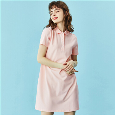 Stretchy loose polo dress