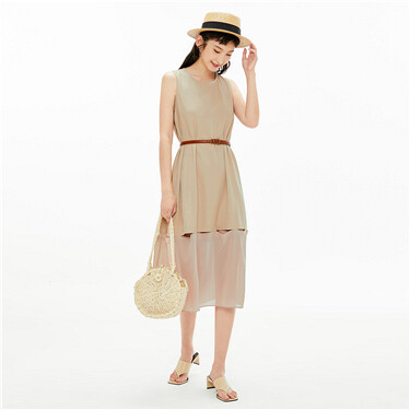 Collage hollow loose dress