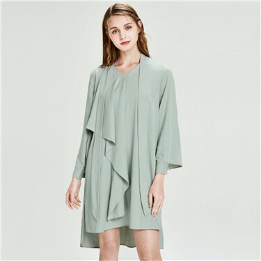 Collar streamer loose dress