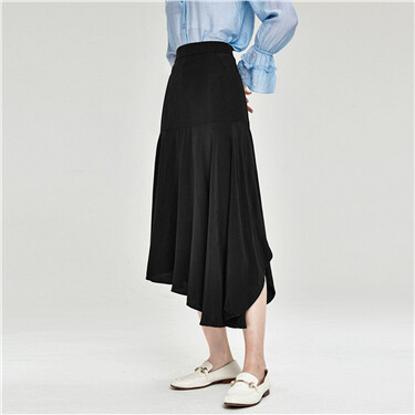 Pleated asymmetrical design sk