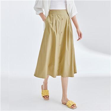 Knee length solid skirt