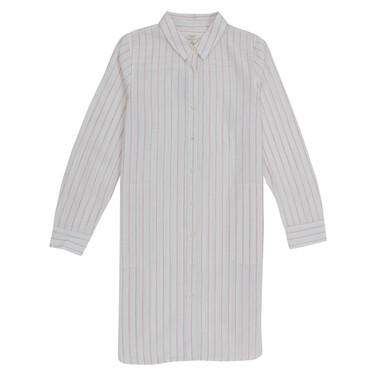 Linen cotton long sleeve dress
