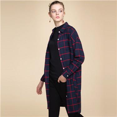 Flannel loose dress