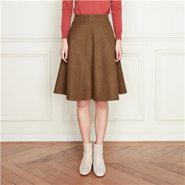 Knitted elastic waist-band skirt
