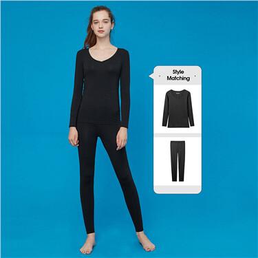G-Warmer v-neck stretchy lingerie set