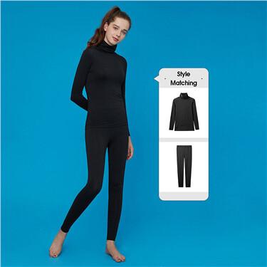G-Warmer turtleneck stretchy lingerie set