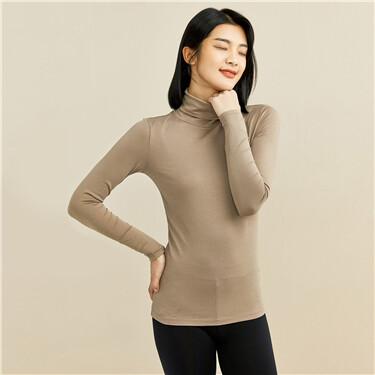 G-Warmer high-neck stretchy tee