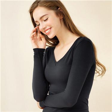 女裝G-Warmer彈力舒適V領極暖衣