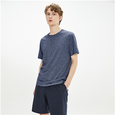 Plain slim crewneck short-sleeve tee