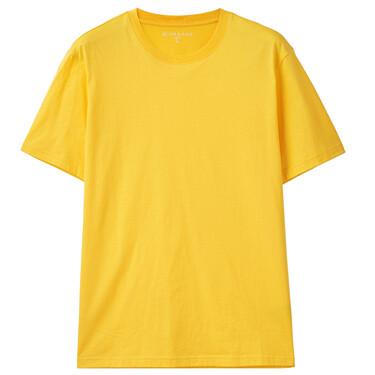 男裝淨色修身純棉短袖T恤
