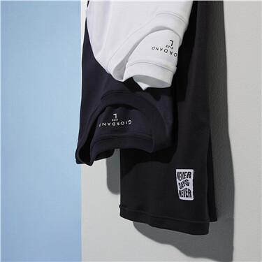 丝光高弹纯棉圆领短袖T恤