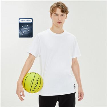 Mercerized high-elastic cotton round neck short-sleeved T-shirt