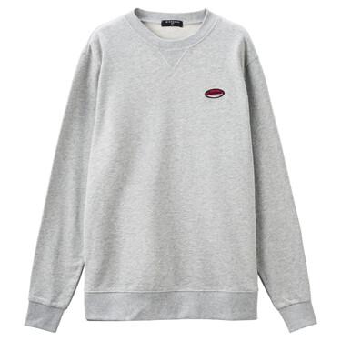 Letter embroidery crewneck sweatshirt