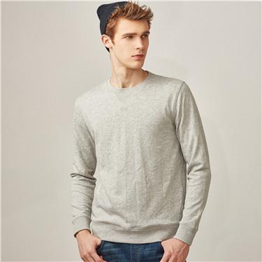 Solid crewneck pullover sweatshirt