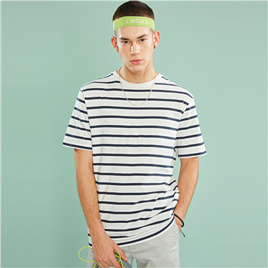 Crewneck loose striped tee