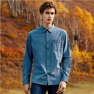 Thick flannel cotton casual shirt