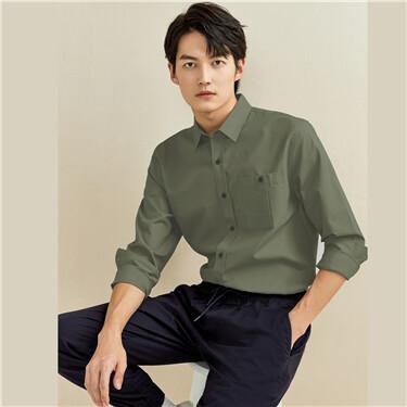 Cargo pocket long-sleeve shirt