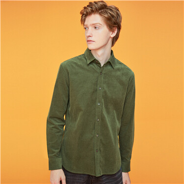 Thick corduroy long-sleeve shirt