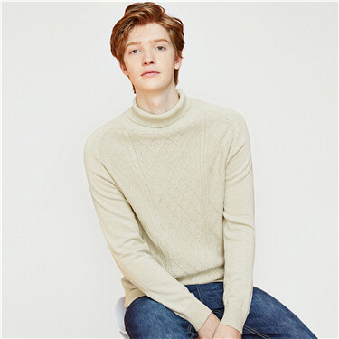 Vintage turtleneck knitted sweater