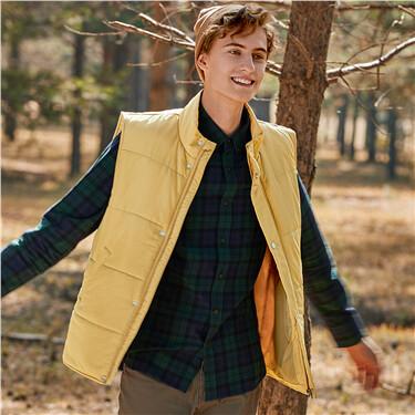 纯色立领背心棉衣外套
