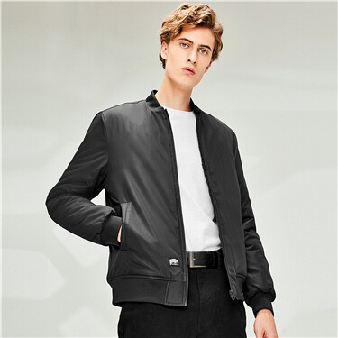 Stand collar slim bomber jacket