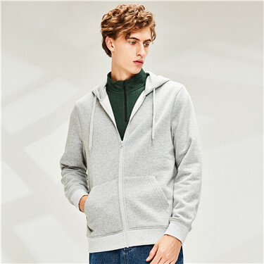 Kanga pocket fleece-lined hood