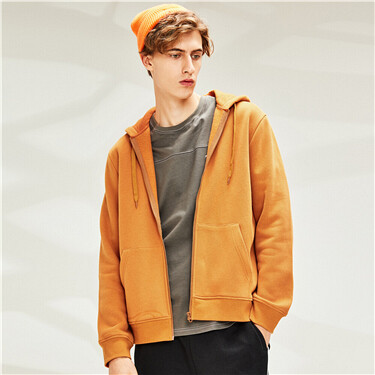 Kanga pocket fleece-lined hooded jacket