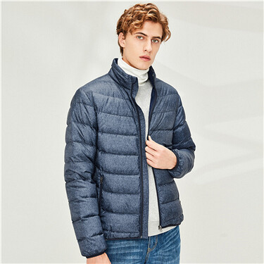 Machine washable white duck down jacket
