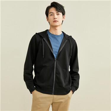 Kanga pocket fleece-lined hooded jacket