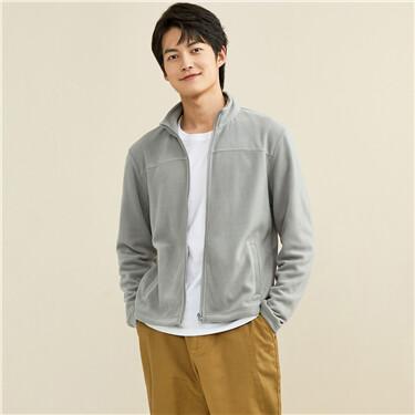 Polar fleece stand collar jacket