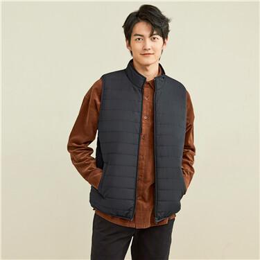 Stand collar sleeveless vest