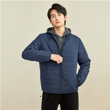 Solid color stand collar jacket