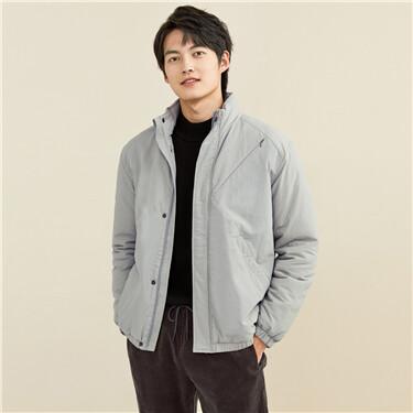 Polyester berber fleece stand collar jacket