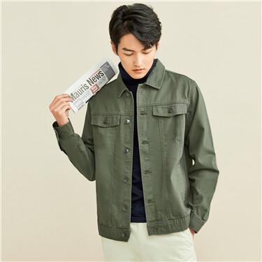 Cargo flap pockets jacket