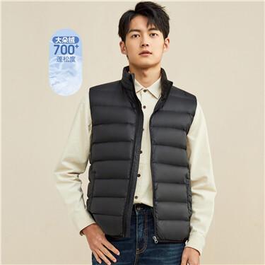 Lightweight duck down jacket vest