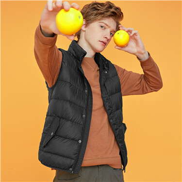 Machine washable lightweight grey duck down vest