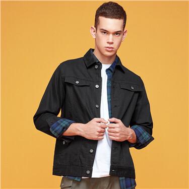 3D flap pockets cargo long-sleeve jacket