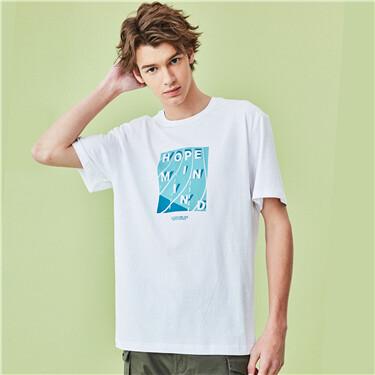 Printed short sleeves tee