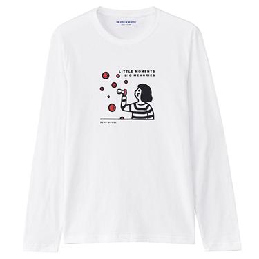 男裝純棉印花長袖T恤