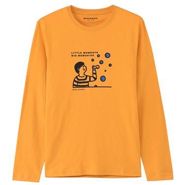 男裝印花長袖T恤