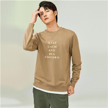 Printed letter crewneck sweatshirt