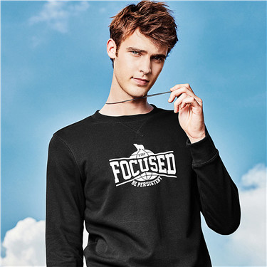 PURSUE YOUR DREAMS printed crewneck pullover