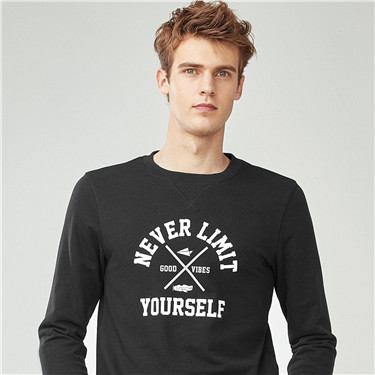 PURSUE YOUR DREAMS printed crewneck pullover