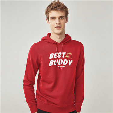Lucky piglet series fleece hoodies