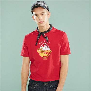 男裝DEAR WORLD系列印花T恤
