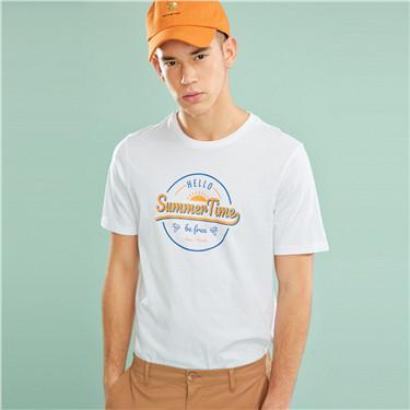 男裝SUN AND SEA系列印花短袖T恤