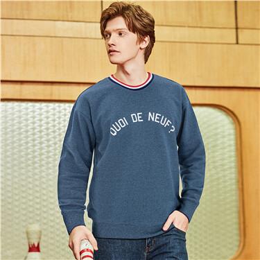Letters printed crewneck sweatshirt