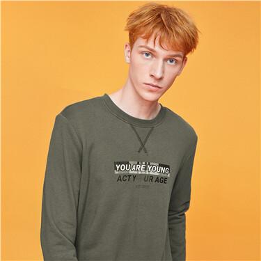男裝CHECKS大學T恤
