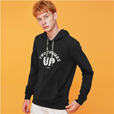 Graphic kanga pocket hoodie